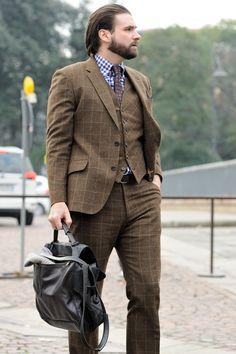 Monsieur Jerome/ Tweed Three Piece Suit