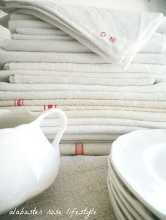 Vintage French linens-Perhaps my Love for this stuff is because I'm really French deep down.....