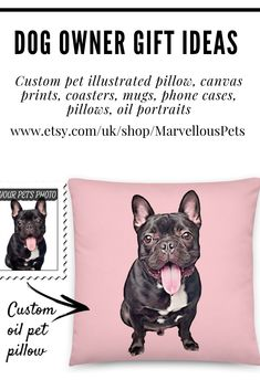 dog owner gift idea who are crazy about dog, pet or any animals. - Marvellouspets products for dog lovers - Gifts For Dog Owners, Dog Lover Gifts, Dog Lovers, Lovers Gift, Cat Pillow, Dog Memorial, Animal Pillows, Dog Mom, Pet Portraits