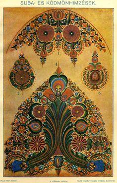 Hungarian Herdsman's coat with regional Antique embroidery on coat /suba és ködmöndísz