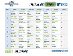 I know....I know, I'm racing way ahead of the game but I couldn't help it! I created this LIIFT4 Body Beast hybrid to provide an exciting a medium to long term plan for my challengers. This hybrid combines the best of both worlds. For those of you who are used to training 5 or 6 times Workout Calendar, Workout Schedule, Workout Ideas, Fitness Motivation, Body Beast, 80 Day Obsession, 21 Day Fix, Gym Time, Humor