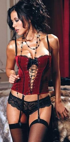 Sexy Corset Velvet Criss Cross Lace Up Grommet Bustier. This pretty Lace Corset is a delight. Comes with tanga shorts. The bra is not included. Plus Size Corset available Sexy Lingerie, Black Lace Lingerie, Beautiful Lingerie, Lingerie Ladies, Lingerie Models, Lace Bra, Corset Rouge, Sexy Women, Bodice