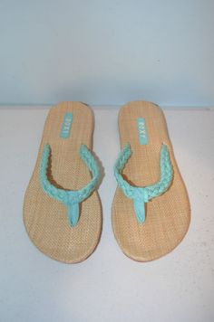 Roxy Moalo Aqua Flip Flops Flat-Size 9M-Brand New #Roxy #FlipFlops