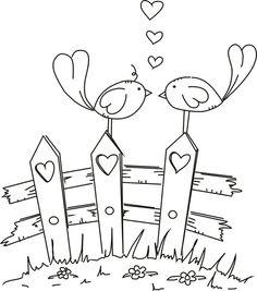 valla de madera, pajaros, amor