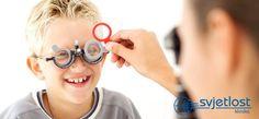 Otroci, ki imajo refrakcijsko napako, se po dolgotrajnem branju ali igranju igric pritožujejo zaradi glavobola. To se dogaja, ker zaradi izrazite prilagodljivosti otroškega očesa otrok sam nezavedno popravi svojo dioptrijo in dobro vidi, toda vlaga dodaten napor, ki ga utruja, v nekaterih primerih pa lahko   privede tudi do poškodb v vidnem sistemu.