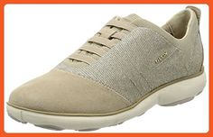 Geox Women's W NEBULA 11 Lead/Light Taupe Oxford - Oxfords for women (*Amazon Partner-Link)