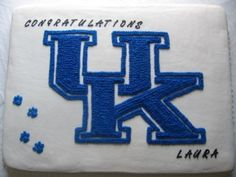 University of Kentucky Graduation cake By turtlemom on CakeCentral.com