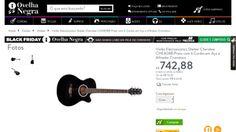 [Ovelha Negra Musical] Violão Eletroacústico Shelter Cherokee CHE808B Preto com 6 Cordas em Aço e Afinador Cromático - de R$ 807,30 por R$…