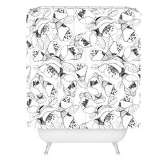 CayenaBlanca Bw Lines Shower Curtain | DENY Designs Home Accessories
