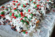 This festive Christmas Cookie Bark makes the perfect food gift this holiday season. Not only will Rudolph and Santa love it but so will your neighbors.