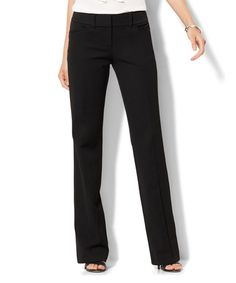 Loving this Black SuperStretch Bootcut Pants - Tall & Petite Too on #zulily! #zulilyfinds