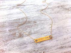 "Amazing  Gold Shema Israel Necklace Jeweish #Jewelry Delicate necklace Shema Israel Pendant Bar Necklace Traditional Necklace  14 k #goldfilled necklace with the prayer ""shema israel""... #jewelry #etsy #minimal"