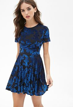 1d4b99fbcd Velveteen Floral Dress