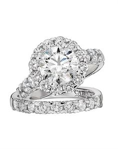 Did I ever mention that I love weddings a LOT? well maybe I will get married again. Caro 74 CR114W CR114W Engagement Ring and Caro 74 CR114W CR114W Wedding Ring