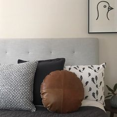 Bedhead, Heavenly, Throw Pillows, Colour, Button, Simple, Fabric, Home, Design