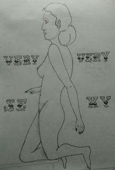 #Sketch of a nude woman by #AmitRanjan