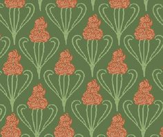 Rendering with Windows Paint that I did of the Maple Drawing-Room's third upholstery theme. It was an Jugendstil motif made in Darmstadt. **PLEASE** Do not take as your own! Credit accordingly. Thank-you!!