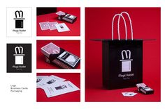 Logo, business cards and packaging for Magic Rabbit shop by SDPS student Francesca Felix