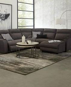 Torie 5-Piece Sectional with 2 Power Motion Recliners - Furniture - Macy's