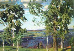 Зелёный Шум, 1904 г.  Рылов Аркадий Александрович (green noise by Rylov)