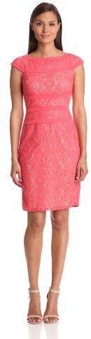 Adrianna Papell Women's Lace Sheath Dress