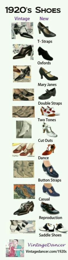 1920s shoes for the Flapper Girl outfits.