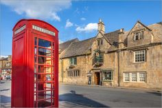 Poster Telefonzelle in Chipping Campden, Cotswolds, Gloucestershire (England)
