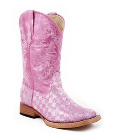 57ef9d5ab9343 0901819010028 Roper Pink Glitter Cowboy Boot For Children Girls Cowgirl  Boots