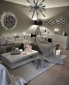 526 Best White And Grey Deco Images Living Room Modern Decorating