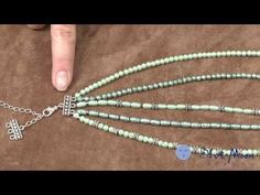 How to make a Multi-Strand Necklace. Blue Moon Beads. Use Tiger-Tail, bead, crimp and multistrand finding.