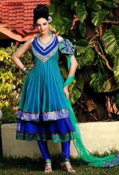 Sky Blue #SalwarKameez  For More Salwar Kameez Check this page now :-http://www.ethnicwholesaler.com/salwar-kameez