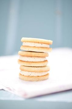 Lavender Shortbread Sandwich Cookies with Earl Grey Buttercream