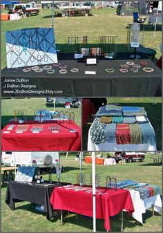 Nice and clean craft show setup! Add a logo to those table covers to help people remember you, though!