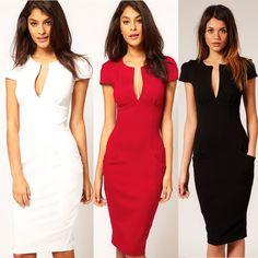 f4d2bd7423 Encontrar Más Vestidos Información acerca de Moda vestido de verano mujer  Plunge Sexy cuello en V