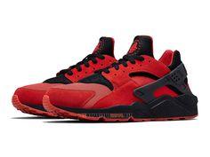 """Nike Air Huarache Run """"Love & Hate"""" QS - Nike Sportswear Pas Cher Chaussure Pour Homme University Rouge/Noir"""