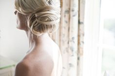 Chic bun with wrapping strands