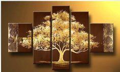 Hechos a mano arte abstracto pintura al óleo en la lona fourtune árbol ( sin empate sin marco ) bai05 en Pintura y Caligrafía de Casa y Jardín en AliExpress.com | Alibaba Group