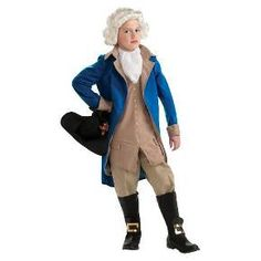 Boys' George Washington Costume Medium (7-8) : Target