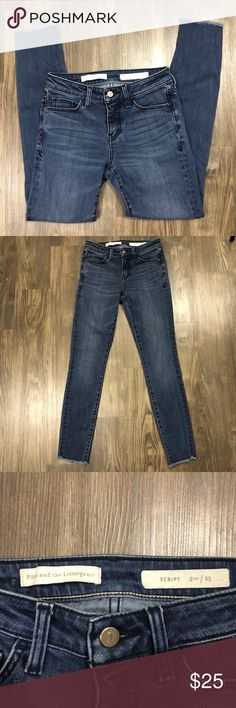 Anthro Pilcro and the Letterpress skinny jeans Super cute Anthropologie Pilcro and the Letterpress skinny jeans. Frayed ankles. Very good preloved condition. Anthropologie Jeans Skinny