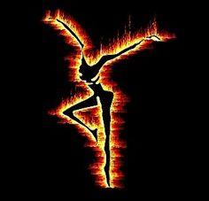 my yellow flame she dances. . .