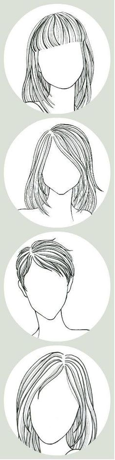 hair styles by margery Pencil Drawings, Art Drawings, Art Sketches, Straight Hairstyles, Face Shape Hairstyles, Trendy Hairstyles, Hairstyles With Bangs, Wedding Hairstyles, Drawing Reference