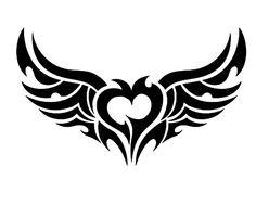 {Fantasy Stencils} | 08 | Heart with wings #FantasyStencils