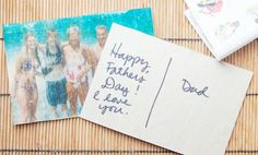 Father's Day Photo Postcard | Give your dad the ultimate personalized card for Father's Day!