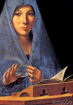 Antonello da Messina - Maria der Verkündigung