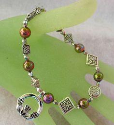 Silver Celtic Knot Claddagh Charm Bracelet Claddagh, Celtic Knot, Swarovski, Buy And Sell, Charmed, Jewellery, Bracelets, Silver, Ebay
