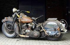 '48 H-D Panhead, almost completely original & what a great example it is!