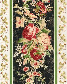 Tomorrow's Promise - Gothic Rose Garden Stripe - Quilt Fabrics from www.eQuilter.com.