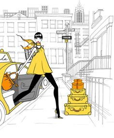 And another New York girl illustrated by Megan Hess