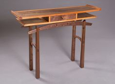 This is fine furniture crafted by Marcus Santa of Santarsiero WoodWorks. Awesome Woodworking Ideas, Best Woodworking Tools, Woodworking Workbench, Woodworking Workshop, Woodworking Techniques, Woodworking Furniture, Woodworking Projects, Woodworking Joints, Japanese Furniture