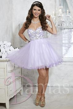 Dama Dress #52340 - Joyful Events Store Strapless sweetheart bodice with beading detail. Short tulle skirt with curled hem. Lace-up back. Tulle - See more at: http://www.joyfuleventsstore.com/party-dama-dresses/dama-dresses/dama-dress-52340/#sthash.shh7pMf7.dpuf